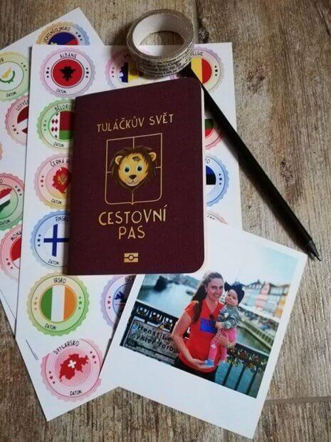 cestovní pas malé Amálky