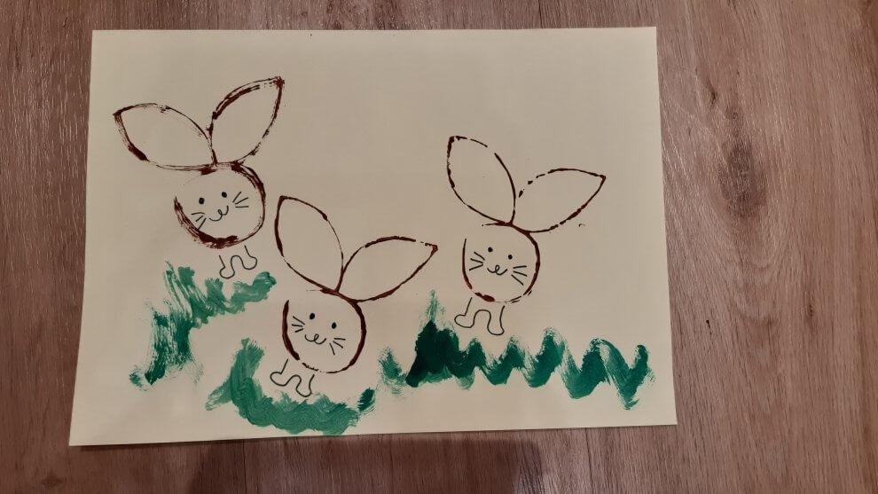 tvoření s dětmi - zajíček