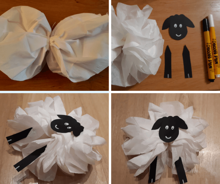 tvoření s dětmi - ovečka