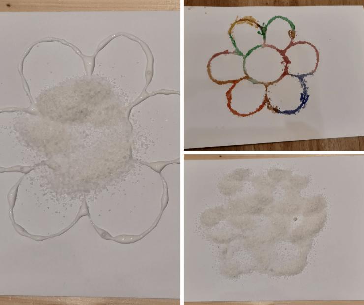 jarní tvoření s dětmi - kytky ze soli
