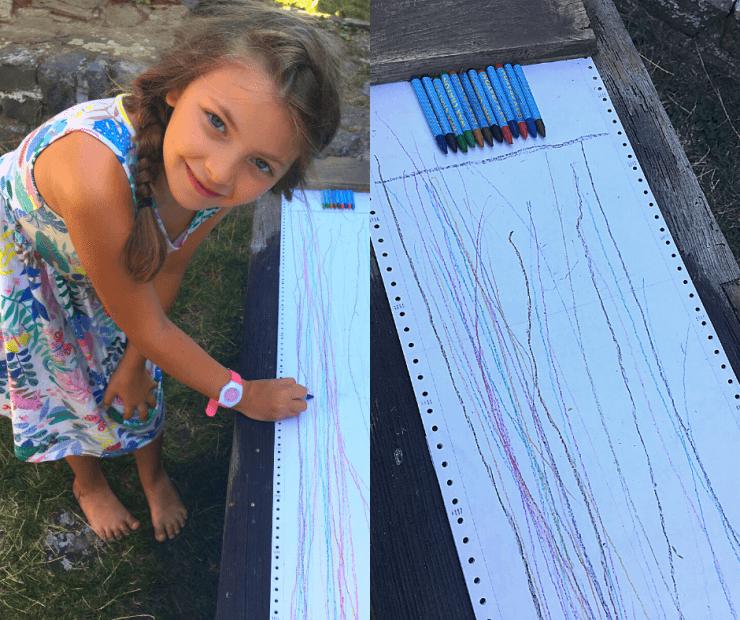 dětský den - závod pastelek