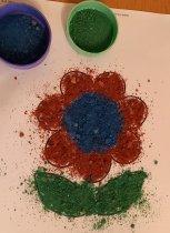 malování pískem v domácím prostředí