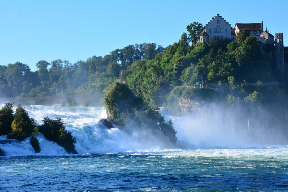 zajímavých míst ve střední Evropě - rýnské vodopády